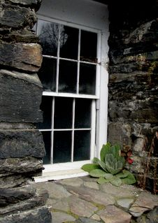 Old Stone Window Sill Stock Image