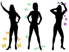 Free Women Silhouettes Royalty Free Stock Photo - 8316685