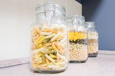 Free Pasta In Glass Jars Royalty Free Stock Photo - 8316715