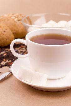 Free Tea, Mozzarella And Bread Royalty Free Stock Photos - 8316868