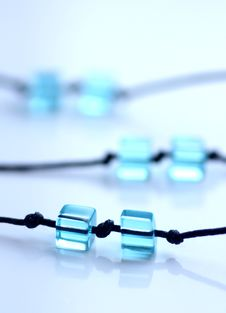Free Blue Cubes On String Stock Images - 8317934