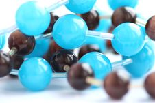 Beads Brown And Blue Royalty Free Stock Image