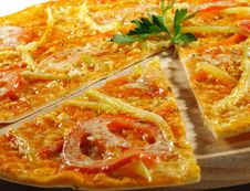 Vegetable Pizza Stock Photography