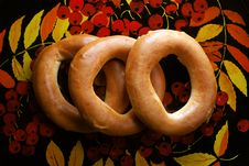 Bagels On Tray Stock Photography