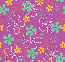 Free Flowers On Pink Background Royalty Free Stock Photo - 8318235