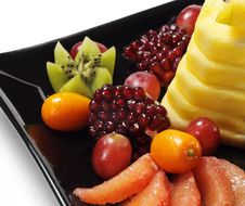 Free Fruit Plate Stock Photography - 8318352