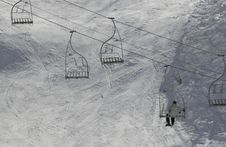 Free Man On Chairlift Stock Photography - 8318442