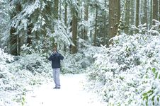 Free Man With Camera In Winter Stock Photos - 8318773