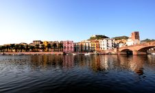 Free Mediterranean Town Along River Bank Stock Photo - 8318810