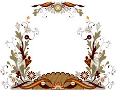 Free Abstract Floral Frame Stock Photo - 8319100