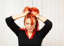 Free Angry Caucasian Businesswoman In The Office Stock Photography - 8319332