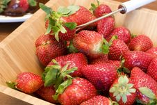 Free Strawberries In A Wooden Bowl Royalty Free Stock Photos - 8319708