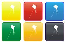 Web Button - Kite Royalty Free Stock Images