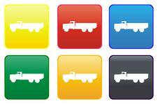 Truck Web Button Stock Photos