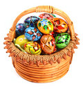 Free Easter Eggs In Wicker Basket Royalty Free Stock Photos - 8325878