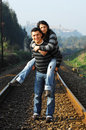 Free Walking On Railway Tracks Stock Images - 8327694
