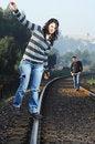 Free Walking On Railway Tracks Royalty Free Stock Photos - 8328468