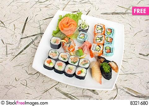 Free Assortment Of Sushi Stock Photo - 8321680