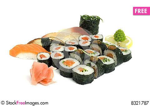 Free Assortment Of Sushi Royalty Free Stock Photography - 8321787