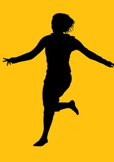 Free Silhouette Girl Royalty Free Stock Photos - 8320348