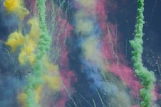 Free Smoke Colors Fireworks Royalty Free Stock Photography - 8320927