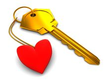Free Heart Keyholder Stock Photos - 8321293