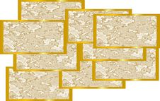 Free Gold Flakes Collage Stock Photography - 8321532