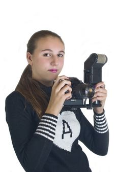 Girl Looking At Camera Stock Images