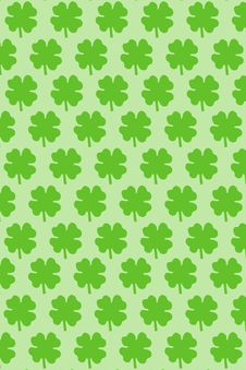 Clover Wallpaper Royalty Free Stock Images