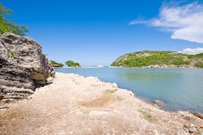 Free Turquoise Lagune View With Rocky Shore Stock Photo - 8321820