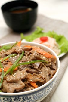 Free Prepared And Delicious Japanese Food-beef Rice Royalty Free Stock Image - 8321976