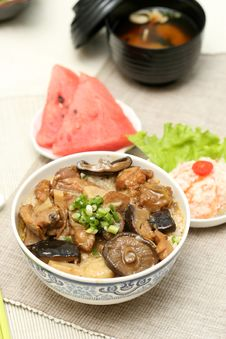 Free Prepared And Delicious Japanese Food-beef Rice Stock Photos - 8322013