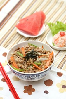 Free Prepared And Delicious Japanese Food-beef Rice Royalty Free Stock Image - 8322156