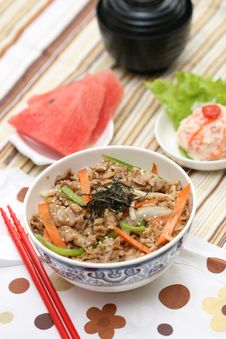 Free Prepared And Delicious Japanese Food-beef Rice Royalty Free Stock Photos - 8322168
