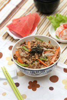 Free Prepared And Delicious Japanese Food-beef Rice Stock Image - 8322191