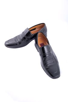 Free Black Leather Shoes Royalty Free Stock Image - 8322206