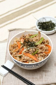 Free Prepared And Delicious Japanese Food-beef Rice Royalty Free Stock Image - 8322256