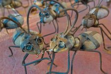 Free Ant Models Constructed Of Stone And Iron Royalty Free Stock Photos - 8322628