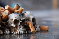 Free Ashtray Made Of Tiny Skulls Stock Photos - 8322653