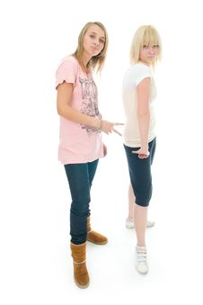 Free The Two Young Glamour Girls Royalty Free Stock Photography - 8323127
