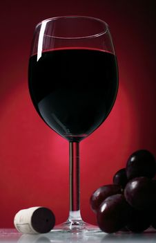 Still-life With Glass Of Red Wine Stock Photo