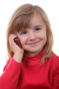 The Beautiful Young Girl Speaks By Phone Stock Photo