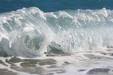 Free The Twirled Sea Wave Approaching On Coast Royalty Free Stock Image - 8323326
