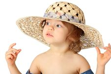 Free A Girl Is In A Hat. Stock Image - 8323351