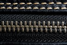 Free Zipper And Black Leather Royalty Free Stock Image - 8323996