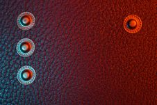 Free Black Leather In The Blue-red Light Stock Image - 8324141