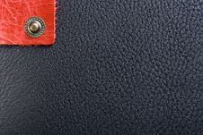 Free Black Leather And Lonely Button Royalty Free Stock Photography - 8324167