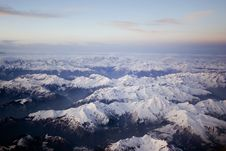 Free Snow-capped Mountains From The Plane Stock Image - 8324331
