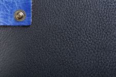 Free Black Leather And Lonely Button Royalty Free Stock Photography - 8324337