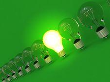 Row Of Lamps Stock Photo